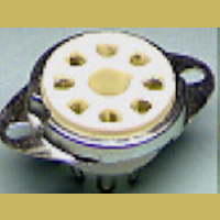 8PF 8-Pin Ceramic Octal Socket with bracket F style