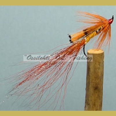 Ally's Shrimp Orange single hook