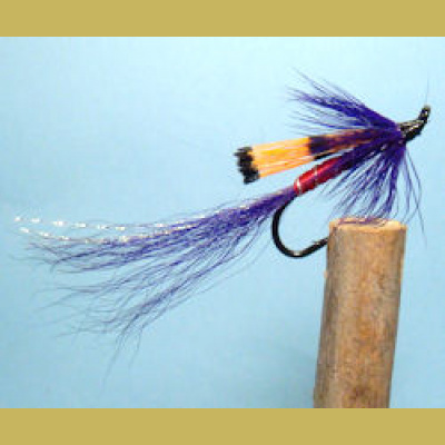 Ally's Shrimp PURPLE single hook