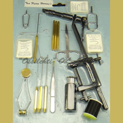 Beginner's fly tying tool set TFH® aunt Alma's PRO 1 model 14 + 4 pieces !