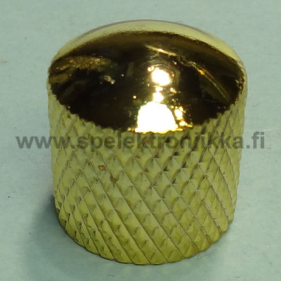 Metallinuppi 16,5 x 18 push to fit kulta dome 6 mm akselille