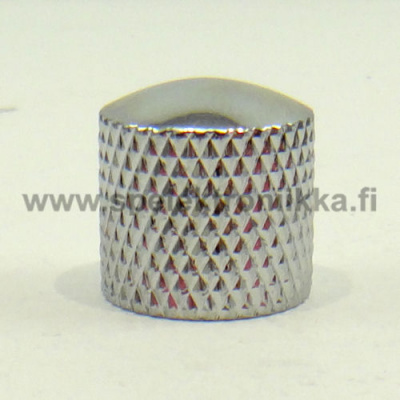 Metallinuppi 16,5 x 18 push to fit kromi dome 6 mm akselille