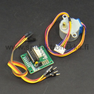 Stepper motor for 5V voltage and stepper motor controller circuit board for Arduino applications