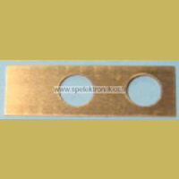 Switch back plate brass 22307124