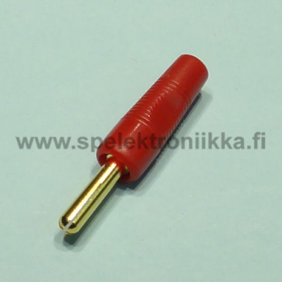 Banana connector 4mm male BL1 gold red