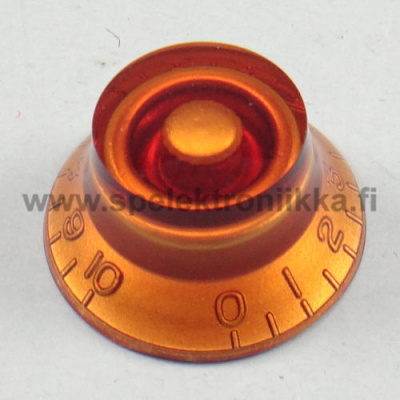 Bell Top Hat nuppi BRONZE AMBER transparent