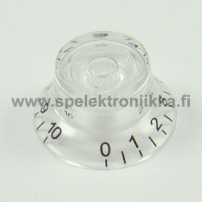 Bell Top Hat nuppi Water Clear Transparent