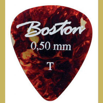 Selluloidiplektra Boston Tortoise Thin 0.5mm 1kpl