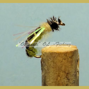 Caddis Pupa Green #12