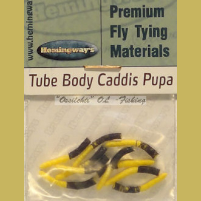 Hemingway's Caddis Pupa Tube Body Yellow Medium