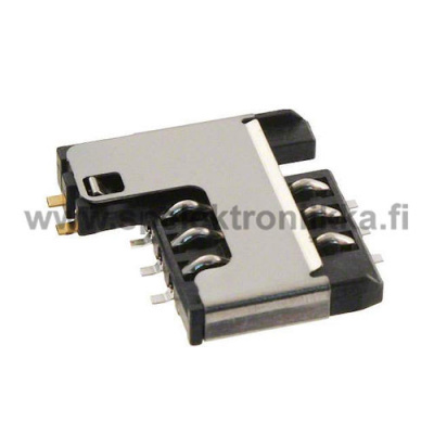 CCM03-3754LFT R102 sim card holder ITT Industries C&K