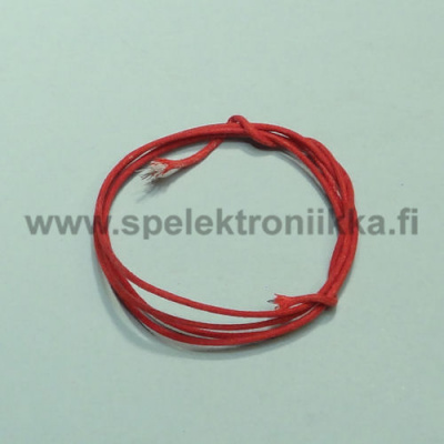 Cloth covered push-back wire stranded Red 18 AWG 1m