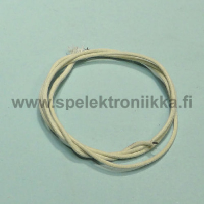 Cloth covered push-back wire stranded White 18 AWG 1m