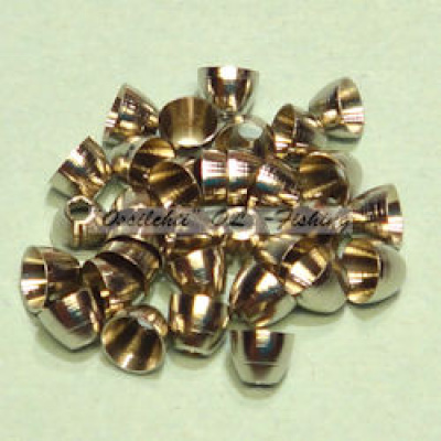 Conehead messinki, reikä 1.8 mm TFH® 5 mm Bright Nickel 20kpl