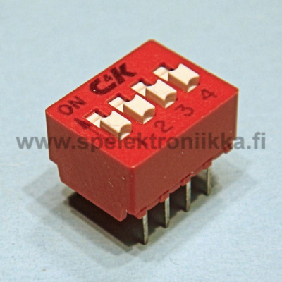 DIP switch 4 pole C&K 10pcs