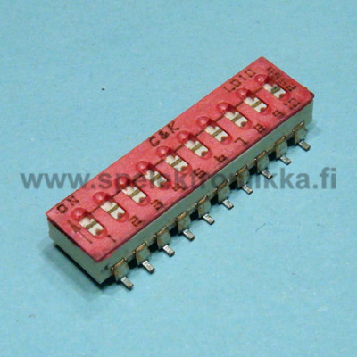 DIP switch SMD 10 pole C&K 10pcs