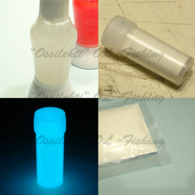 Glow powder for lure making ice jig making White TFH®