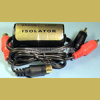 RCA -ground loop isolator, linjatasoisille signaaleille
