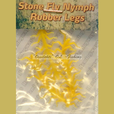 Hemingway's Soft Rubber Legs Golden Yellow Medium