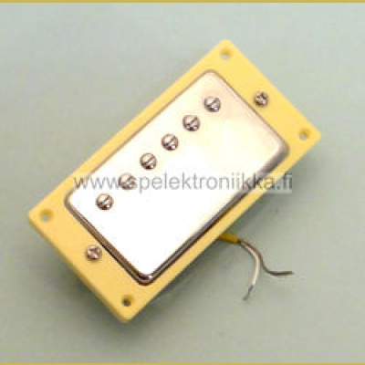 Humbucker crome neck 50 ivory mounting ring HN50IVO yellow wire