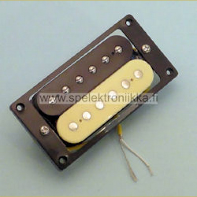 Humbucker zebra neck 50 black mounting ring HNZ50ZEBRA yellow wire