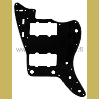 Jazzmaster tyylinen musta pleksi Black 3-Ply Pickguard for Jazzmaster