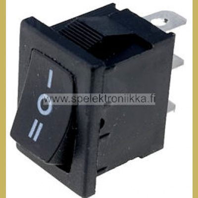 Keinukytkin nro:33A 1 x ON-OFF-ON 250VAC/10A