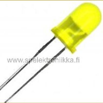 Keltainen 3 mm LED diffusoitu low current