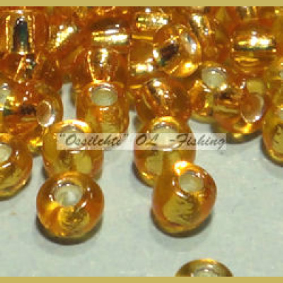 Glass beads for fly tying Kullankeltainen / Silverlined n. 2 mm yli 700kpl