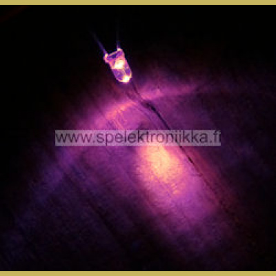 LED 3 mm Superkirkas Pinkki 1000mcd