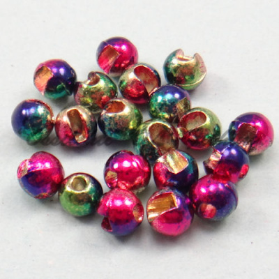Slotted Tungsten Wolfram ball Rainbow 3.5 mm 20pcs TFH®