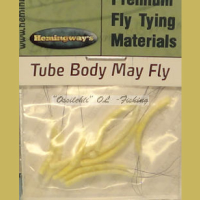 Hemingway's Mayfly Tube Body Light Yellow Small