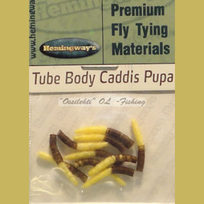 Hemingway's Caddis Pupa Tube Body Light Yellow Medium