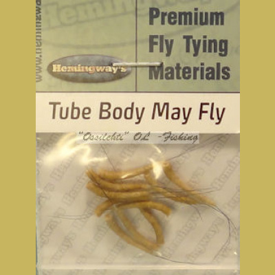 Hemingway's Mayfly Tube Body Tan Small