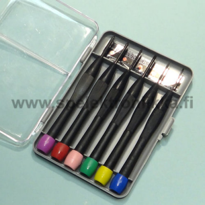 Screwdriver set 6-bit mini screwdriver for electronics with cross head and spindle head