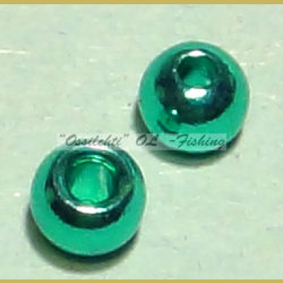 "Messinkikuulat TFH® 3.3mm 1/8"" 20kpl Anodisoitu lucent metallic AQUA GREEN"
