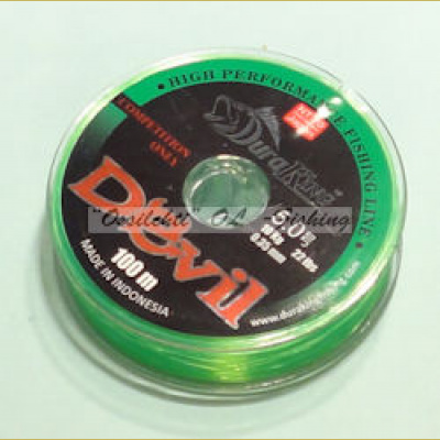 Monofiilisiima DuraKing 0.45mm 100m 15kg Fluo Green