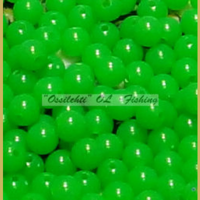 Muovikuula 6mm Fluorescent Green Lime TFH® 50 kpl