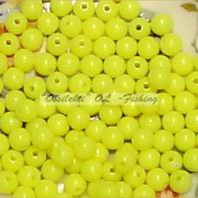 Muovikuula 6mm Fluorescent Yellow TFH® 50 kpl