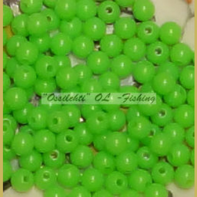 Muovikuula 6mm Bright Grass Green Fluorescent TFH® 50 kpl