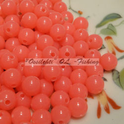 Muovikuula 6mm Fluorescent Hot Pink TFH® 50 kpl