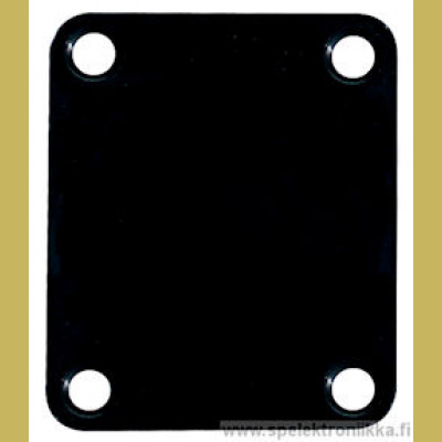 Neck mounting plate, 64,2x51mm, rectangular, black