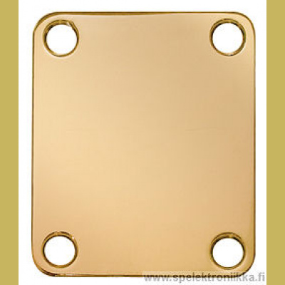 Neck mounting plate, 64,2x51mm, rectangular, gold