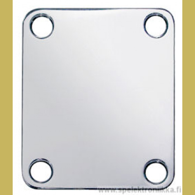 Neck mounting plate, 64,2x51mm, rectangular, nickel