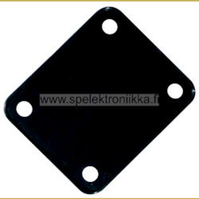 Neck plate cushion, black, 64,2x51mm, for 51 x 64 neck mounting
