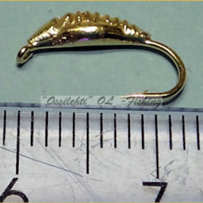 Weighted tungsten hook larva gold SMALL fly hook TFH®