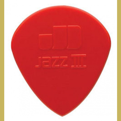 Plektra Jim Dunlop Jazz III nylon red sharp tip