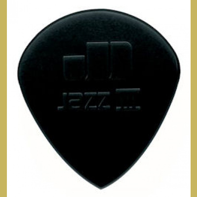 Plektra Jim Dunlop Jazz III stiffo nylon black sharp tip