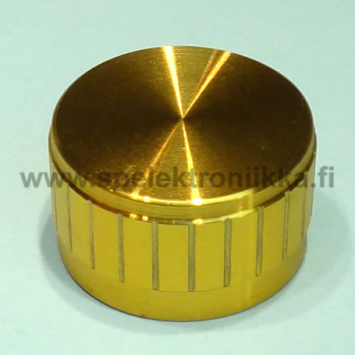 "Potentiometrin nuppi 17 x 30 mm alumiinipäällysteinen GOLD ""push to fit"""