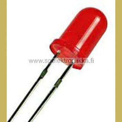 Punainen 5 mm LED diffusoitu low current